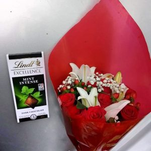 Flower bouquet with chocolate Nairobi