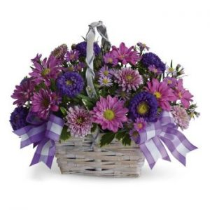 Basket of flowers bouquet delivery in Nairobi