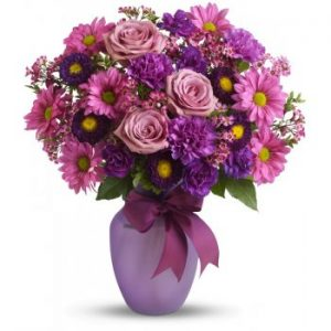 Online delivery of purple bouquet in Nairobi