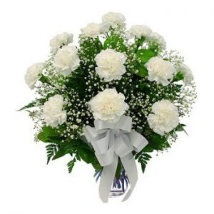 Online flower Delivery white carnations