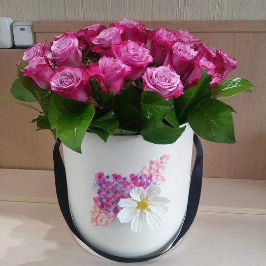 Pink roses hatbox