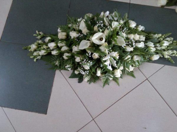 casket spray flowers