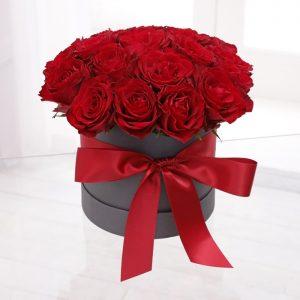 red-rose in a hat-box in Nairobi