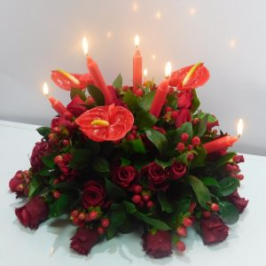 Bouquet with candles