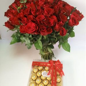 Adorable Love Package (100 Stems of Red Roses)
