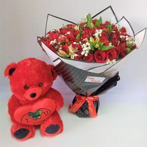 Forever Love Bouquet & Teddy Bear