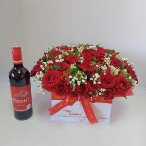 cuddles bouquet + 4th street Wine